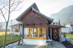Litet hus av Vanga i Rupite, Bulgarien Arkivbild