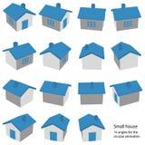 litet hus för 15 vinklar Arkivfoton