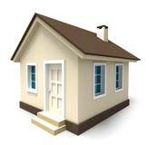 Litet hus i bruna färger Arkivbilder