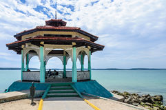 Litet hus i Punta Gorda, Cienfuegos, Kuba Royaltyfria Foton