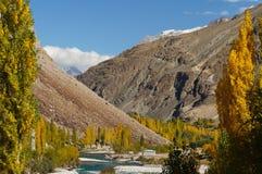 Litet hus nära den Phandar dalen, nordliga Pakistan Fotografering för Bildbyråer