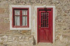 Litet hus på den Midilkli ön Lesbos royaltyfria foton