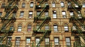 Litet Italien områdeshus i New York Arkivfoton