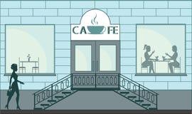 Litet kafé Royaltyfri Fotografi