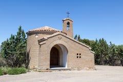 Litet kapell i Spanien Arkivbilder