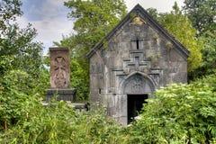 Litet kapell på den Sanahin kloster royaltyfria bilder