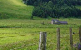 Litet lantbrukarhem i de skotska gränserna Fotografering för Bildbyråer