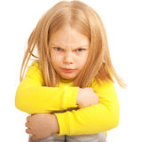 Litet ledset och ilsket barn. Royaltyfri Foto