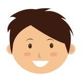 Litet och gulligt le för unge Arkivbild