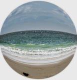 Litet planetstrand och hav Royaltyfria Foton