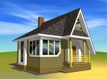 litet pos. för 2 hus Fotografering för Bildbyråer