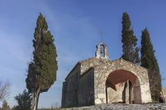 Litet roman kapell arkivbild