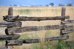 Litet staket på prärien royaltyfri foto