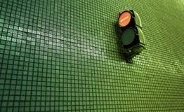 litet stopp för ljus metro Arkivbild