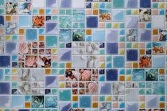 Litet tema för flotta för väggmosaiktegelplatta Arkivfoton