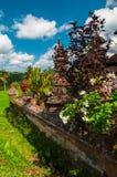 Litet tempel på riceterrassen, Bali, Indonesien Royaltyfria Foton
