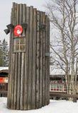 Litet torn i Santa Village, Lapland Arkivfoton