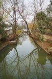 litet vatten för reflexionsflod Royaltyfria Foton
