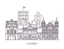 Litewska punkt zwrotny architektura ilustracji