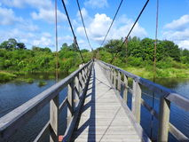 Litewski długi footbridge Zdjęcia Royalty Free