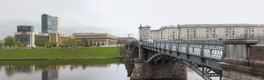 Litewski parlament na brzeg rzeki Obraz Stock