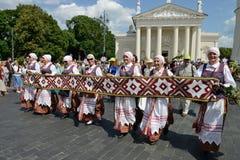 Litewski Pieśniowy świętowanie Fotografia Royalty Free