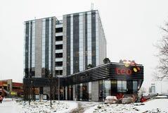 Litewski telecomunications operatora TEO biuro w Vilnius mieście Fotografia Stock