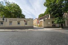 Litewski Theatre, muzyka i kina muzeum w Vilnius, fotografia stock