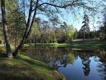 Litewski wiosna krajobraz Fotografia Royalty Free
