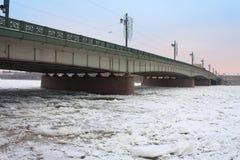 Liteyny Bridge above Neva river.St. Petersburg Royalty Free Stock Photo