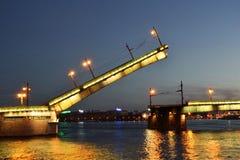 Liteyny bridge at night royalty free stock photography