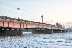 Liteyny most nad Neva rzeką StPetersburg Rosja Zdjęcie Royalty Free