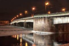 Liteyny most nad Neva rzeką StPetersburg Rosja Zdjęcia Stock