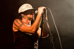 Litfiba  performs live at the Castle of Villafranca Royalty Free Stock Image