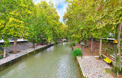 Lithaios river at Trikala Thessaly Greece Royalty Free Stock Photos