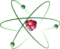 Lithium Atom Model. Atom Model of Lithium with Protons, Electrons and Neutrons Stock Photo