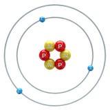 Lithium atom on white background Stock Image