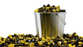 Lithium-ionenbatterijen royalty-vrije illustratie
