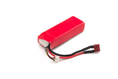 Lithium Polymer Battery pack on white background Royalty Free Stock Image