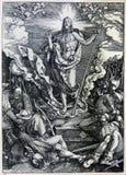 Lithographie de résurrection du Christ image libre de droits