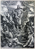 Lithography of Christ resurrection Royalty Free Stock Image
