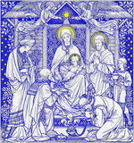 The lithography of Three Magi in Missale Romanum by unknown artist Royalty Free Stock Photo