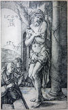 Lithography of tortured Jesus Christ by Albert Durer. Royalty Free Stock Photos