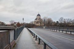 lithuania Église de Znamensky près du pont de Zverinsky à Vilnius 31 décembre 2017 Photographie stock
