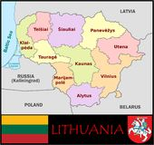Lithuania Administrative divisions Royalty Free Stock Photo
