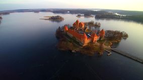 Lithuania aerial flight stock footage