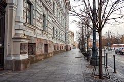 lithuania As ruas velhas de Vilnius Ano novo em Vilnius 31 de dezembro de 2017 Imagem de Stock Royalty Free