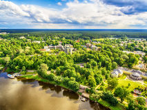 Free Lithuania, Baltic States: Aerial UAV View Of Druskininkai, A Spa Town On The Nemunas River Royalty Free Stock Images - 97385259