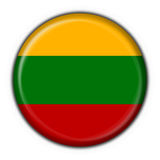 Lithuania button flag round shape Stock Photo