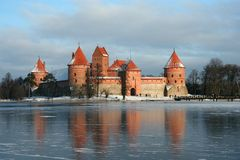 Lithuania castle royalty free stock image